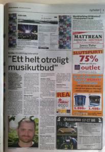 Artikel om Arvika Musik i Arvika Nyheter.