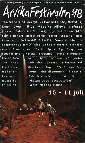 Arvikafestivalen affisch 1998.