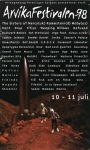 Affisch Arvikafestivalen 1998.