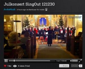 SingOuts julkonsert