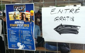 Program för Arvika stadsfest 2013. Foto: David Fryxelius.