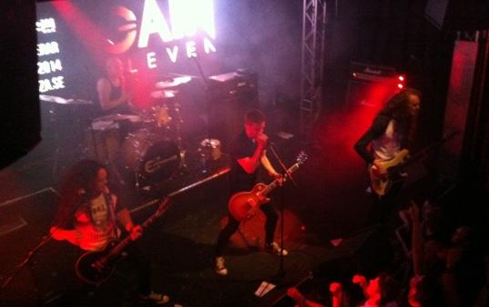 Gain Eleven på Emergenza festival på Sticky Fingers i Göteborg. Foto: David Fryxelius.