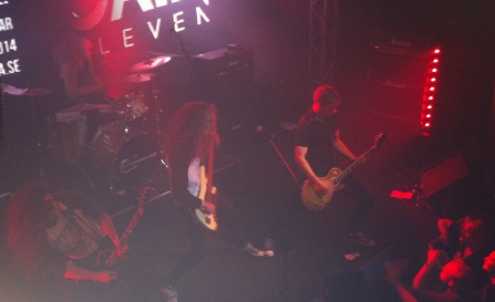 Gain Eleven spelar på Emergenza festival på Sticky Fingers. Foto: David Fryxelius.