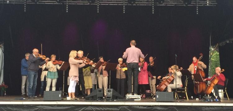 Arvika Stråkorkester på Arvika Stadsfest 2014. Foto: David Fryxelius.