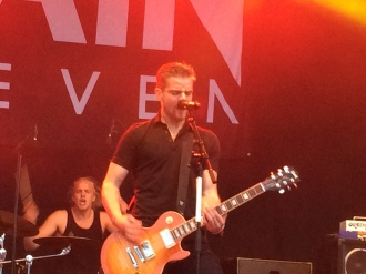 David Flognman (främst) och Hannes Liljedahl i Gain Eleven på Arvika Stadsfest 2014. Foto: David Fryxelius.
