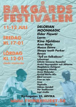 Affisch - Bakgårdsfestival 2014