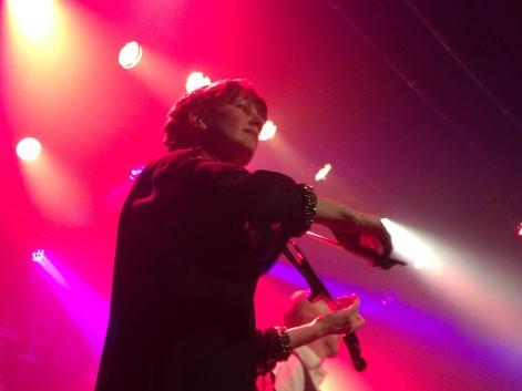 Lena Olsson på môra-Pers jubileumskonsert på Ritz i Arvika 1/11 2014. Foto: David Fryxelius.