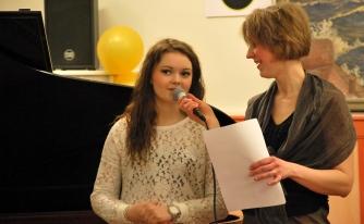 Johanna Arvidsson intervjuas av Anna Andersson Vass. Foto: David Fryxelius.