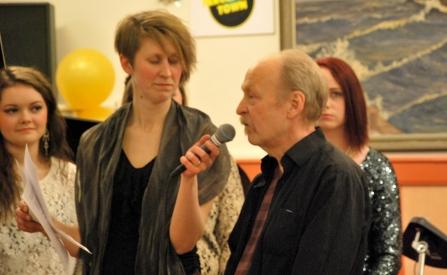 Anna Andersson Vass intervjuar Anders Lind från legendariska Silence Records & Studio i Koppom. Foto: David Fryxelius.