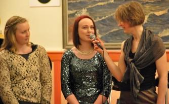 Jessica Gajdos och Magdalena Åhlin intervjuas av Anna Andersson Vass. Foto: David Fryxelius.