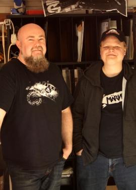Ola Eskilsson och Andreas Larsson på Bootleg Booze Records. Foto: David Fryxelius.