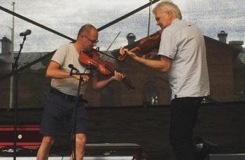 Leif Stinnerbom och Mats Berglund på Arvika stadsfest 2015. Foto: David Fryxelius.