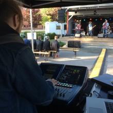 Martin Andersson skötte ljudet på årets Rock Im Stadspark 2015. Foto: David Fryxelius.