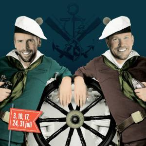 Allsångskryss med Johan Östling och Björn Starrin. Foto: Olssons Brygga.