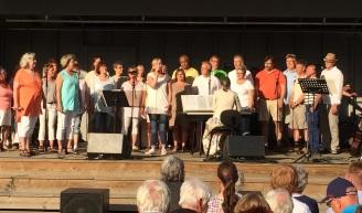 SingOut på trivselkvällen i stadsparken 3 juli 2015. Foto: David Fryxelius.