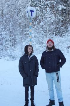 Pettson och Paul utanför Silence studios. Foto: David Fryxelius.