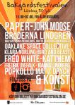Affisch Bakgårdsfestivalen 2016.