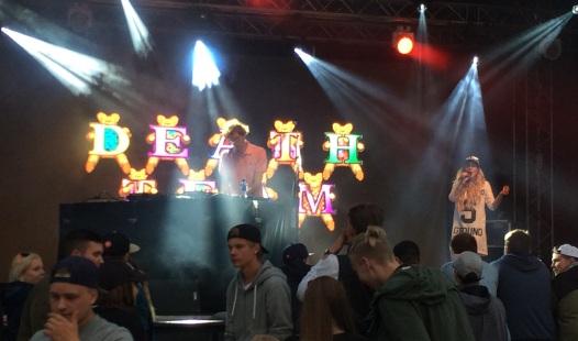 Death Team på Arvika Hamnfest 2016. Foto: David Fryxelius.