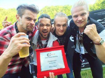Gain Eleven vinnare i världsfinalen av av Emergenza Festival 2016. Foto: Emergenza Festival.