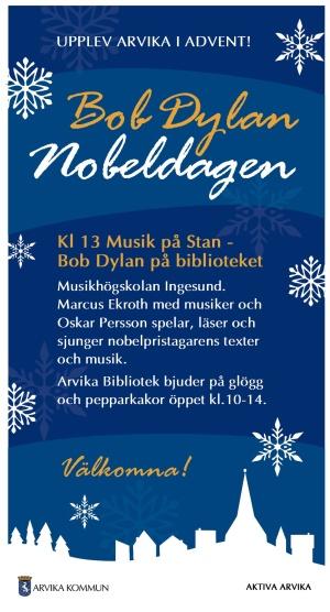Bob Dylan på Biblioteket. Foto: Arvika kommun.