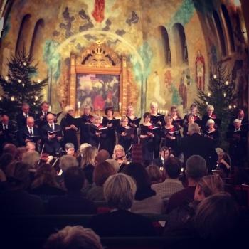 Julkonsert med Arvika Stråkorkester och Arvika Kammarkör. Foto: David Fryxelius.