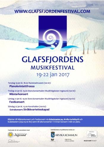 Affisch för Glafsfjordens musikfestival 2017.