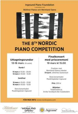 Affisch: Nordic Piano Competeition 2017.
