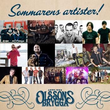 Artister som uppträder på Olssons brygga sommaren 2017. Foto: Olssons brygga.