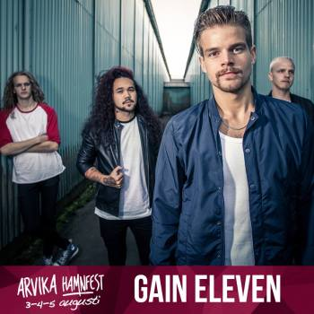 Gain Eleven spelar på Arvika Hamnfest 2017. Foto: Arvika Hamnfest/Gain Eleven.