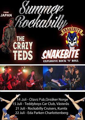 Snakebite och Crazy Teds (JPN) på turné. Foto: Snakebite.