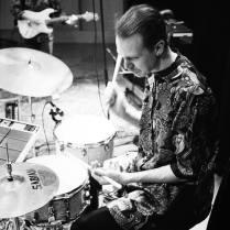 Daniel Hägg vid trummorna. Foto: Daniel Hägg.