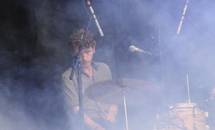 Musiker på Magnus Carlssons konsert på Arvika Hamnfest 2017. Foto: David Fryxelius.