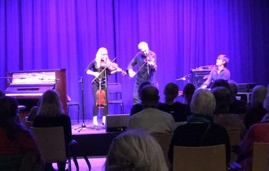 Lena Willemark, Mats Berglund och Martin Hederos på Musikhögskolan Ingesund. Foto: David Fryxelius.