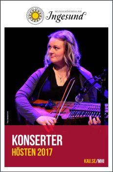Musikhögskolan Ingesunds konsertkatalog för hösten 2017.