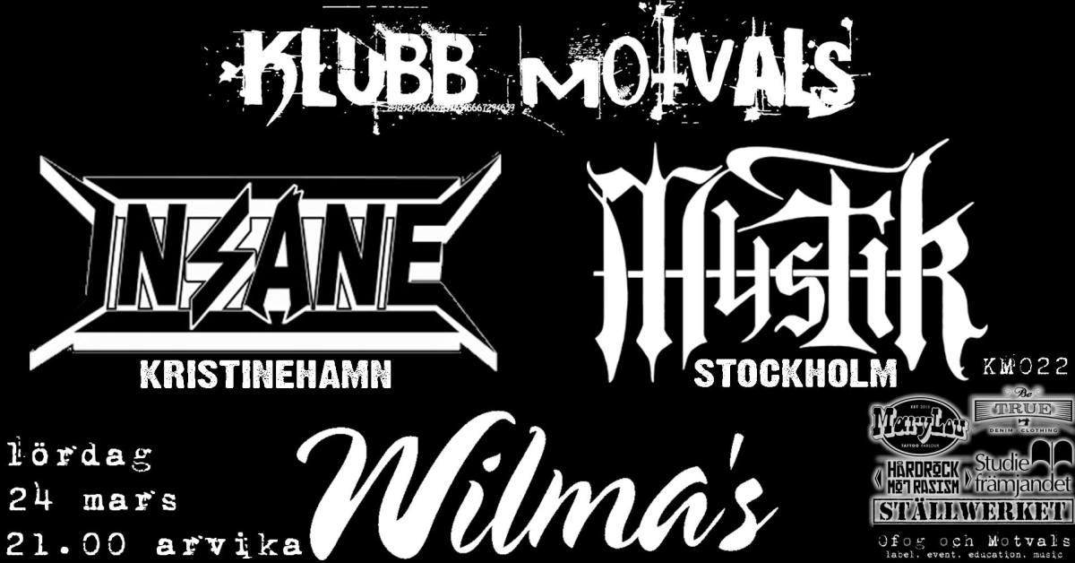 Klubb Motvals intar Wilmas på lördag