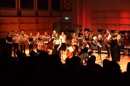 Stråkelever på Musikskolans konsert på Musikhögskolan Ingesund vt18. Foto: David Fryxelius.