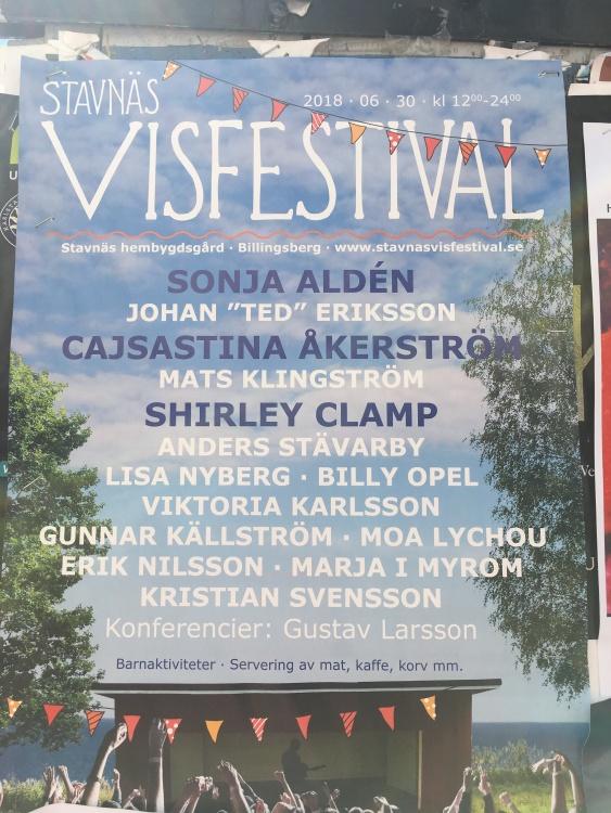 Affisch Stavnäs Visfestival 2018.