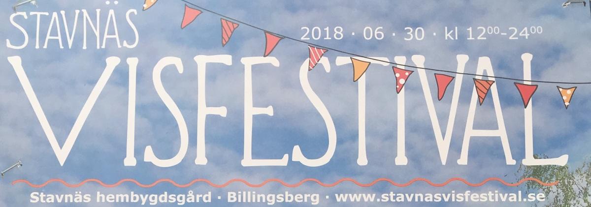 Spelschema för Stavnäs Visfestival 2018