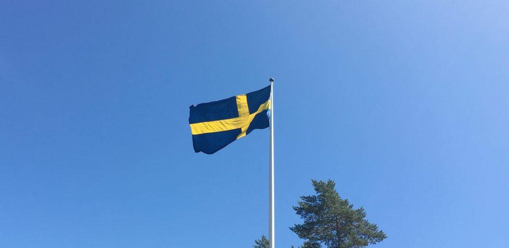 Svenska flaggan. Foto: David Fryxelius.