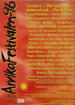 Affisch Arvikafestivalen 1996.