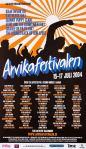 Affisch Arvikafestivalen 2004.