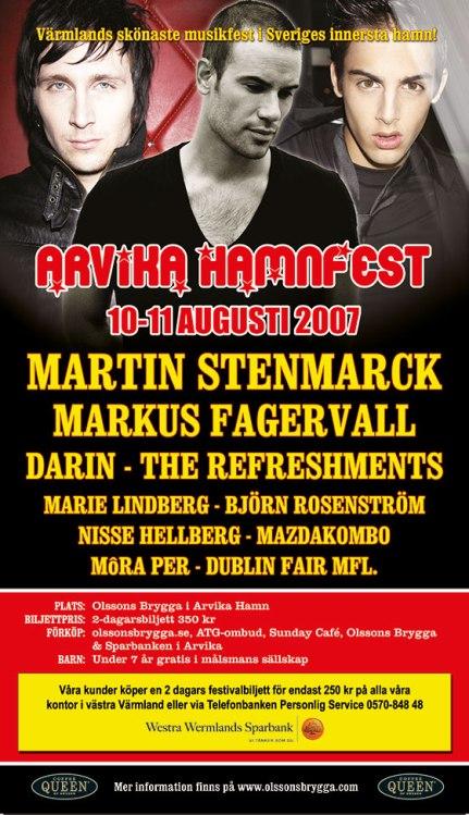 Affisch Arvika Hamnfest 2007.