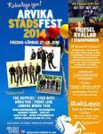 Affisch Arvika Stadsfest 2014.