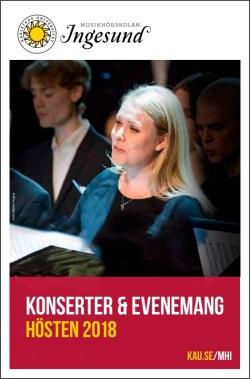 Generalprogram för Musikhögskolan Ingesund 2018.