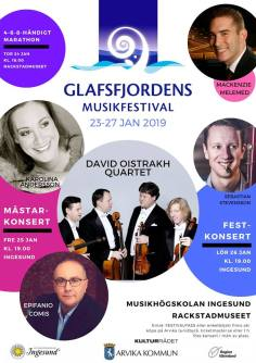 Affisch Glafsfjordens musikfestival 2019.