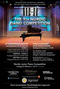 Affisch Nordic Piano Competition 2019.