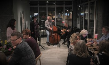 Rebecca Proba, Robert Henriksson och Martin Hultén på invigningen av Ritz 2019. Foto: David Fryxelius.