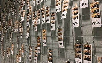 Fotovägg på Ritz 2019. Foto: David Fryxelius.