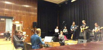 Repetition inför Stina Olssons studentkonsert. Foto: Stina Olsson.