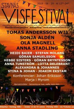 Affisch Stavnäs Visfestival 2019.